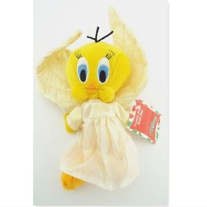 New TWEETY BIRD ANGEL Warner Bros. Bean Bag Plush